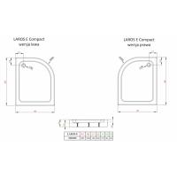Душевой поддон RADAWAY Laros E, 100x80, SLE81017-01L/R