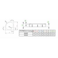 Душевой поддон RADAWAY Patmos A Compact, 80x80, 4S88155-05