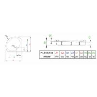 Душевой поддон RADAWAY Patmos B, 90x90, 4T99155-03