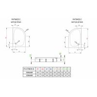 Душевой поддон RADAWAY Patmos E, 100x80, 4P81155-03L/R