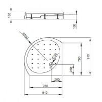 Душевой поддон RADAWAY Rodos B, 90x90, 4D99155-03