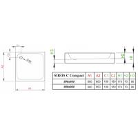 Душевой поддон RADAWAY Siros C Compact, 80x80, SBC8817-2