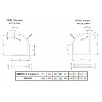 Душевой поддон RADAWAY Siros E Compact, 80x90, SBE8917-1L/R
