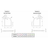 Душевой поддон RADAWAY Tasos Plus E, 100x80, STE1086-30L/R