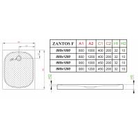 Душевой поддон RADAWAY Zantos F, 100x80, M3ZNF1080-06