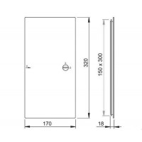 Дверца ALCAPLAST AVD002 для ванной под плитку 150x300 мм