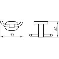 Двойной крючек Ravak CR 100 X07P186