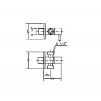 Двойной угловой вентиль GENEBRE (310704)