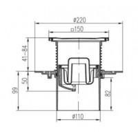 Двухкорпусный трап MCH 386E  для балконов и террас 150х150