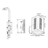 Гидромассажная панель Ravak Jet Light, X01502