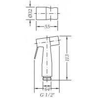 Гигиенический душ GENEBRE inox (100694 60)