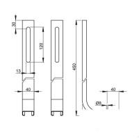 Hоги ALCA PLAST M90 для скрытой системы инсталляции A100