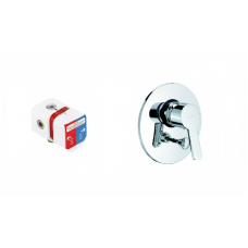 KLUDI LOGO NEO Смеситель для ванны и душа (наружная часть) + KLUDI LOGO NEO Внутренний элемент смесителя ванна/душ 374190575 + 38625