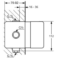 KLUDI LOGO NEO Смеситель для душа (наружная часть) + KLUDI LOGO NEO Внутренний элемент смесителя ванна/душ 374200575 + 38625