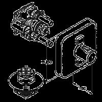 KLUDI PUSH Смеситель для душа с термостатом, управление для 2-х источников. Наружная часть 388110538