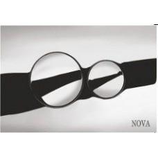 Кнопка NOVA 7312 для инсталляции хром круглая