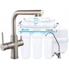 Комплект: DAICY смеситель для кухни, Ecosoft Standart система очистки воды (3х ступенчатая), сатин