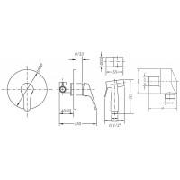 Комплект для гигиенического душа GENEBRE GE2 (GE45ov)