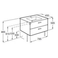Комплект: раковина мебельная Roca VICTORIA 80 см с отверстием + тумба VICTORIA, орех