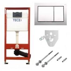 Комплект TECEbase 4в1 (модуль+панель смыва TECEbase хром глянцевый+крепеж+прокладка) 9400006