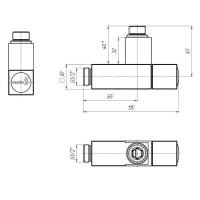Комплект угловых кранов  G1/2 Mario с квадратным корпусом