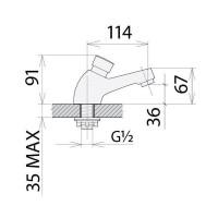 Кран-дозатор Welle для раковины (7 секунд) 72013