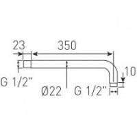 Кронштейн Ferro RN35 для верхне душевой лейки L=350мм