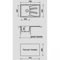 Кухонная мойка ARGO MEDIO 79 в ассортименте, ARG3