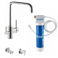 Кухонный смеситель GENEBRE Tau FT65702 с системой очистки воды (65702184566+FT00+310904+310404)