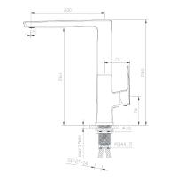 Кухонный смеситель IMPRESE GRAFIKY, ZMK041807150