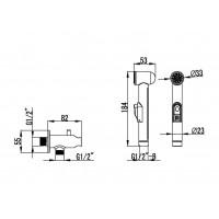 Набор гигиенического душа  IMPRESE B704121, хром