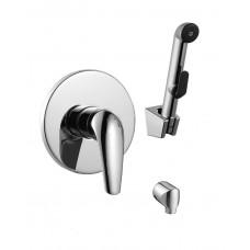 Набор (смеситель скрытого монтажа с гигиеническим душем) IMPRESE KRINICE VR15110Z-BT хром
