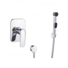 Набор (смеситель скрытого монтажа с гигиеническим душем) IMPRESE PRAHA NEW VR15030Z-BT хром