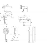 Набор смесителей для душа Ravak Classic (CL 012,CL 032,953.00,972.00,911.00)