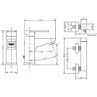 Набор смесителей для раковины и душа GENEBRE Kenjo 1+1 (02KE-shower)