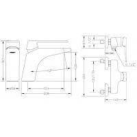 Набор смесителей для раковины и душа GENEBRE Kode 1+1 ( 02KO-shower)