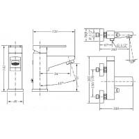Набор смесителей для раковины и ванны GENEBRE Kenjo 1+1 (02KE-bath)