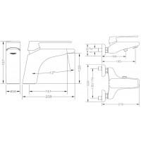 Набор смесителей для раковины и ванны GENEBRE Kode 1+1 (02KO-bath)