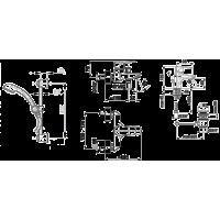 Набор смесителей для ванны  Armatura GERMAN (4511-001-00)