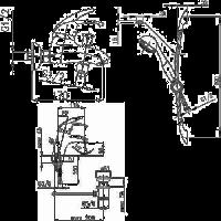 Набор смесителей для ванны  Armatura PIRYT 441-001-00