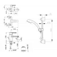 Набор смесителей для ванны  Armatura SELEN 4411-000-00