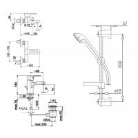 Набор смесителей для ванной комнаты KFA ARMATURA JADEIT 5211-001-00