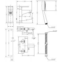Набор смесителей для ванной со штангой GENEBRE Kenjo (04KEV17)