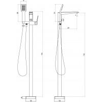 Напольный смеситель для ванны Volle Orlando, 15182300