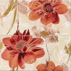 Панно Opoczno Lazio beige inserto flower 58,3х59,3