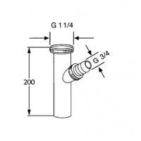 Передвижная труба KLUDI  1046205-00 с подсоединением для шланга стиральной машины