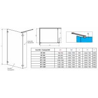 Перегородка для душа RADAWAY Walk-in Euphoria II (80), прозрачная, безопасное стекло, 383130-01-01 + 383160-01-01