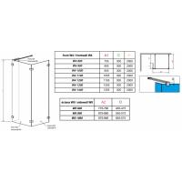Перегородка для душа RADAWAY Walk-in Euphoria IV (80/80), прозрачная, безопасное стекло, 383140-01-01 + 383150-01-01 + 383160-01-01