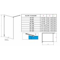 Перегородка для душа RADAWAY Walk-in Euphoria V (70), прозрачная, безопасное стекло, 383117-01-01
