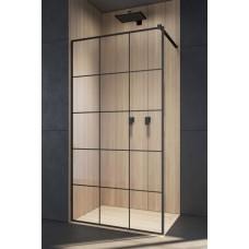 Перегородка для душа RADAWAY Walk-in Modo New Black Factory, прозрачная, безопасное стекло, 389054-54-55